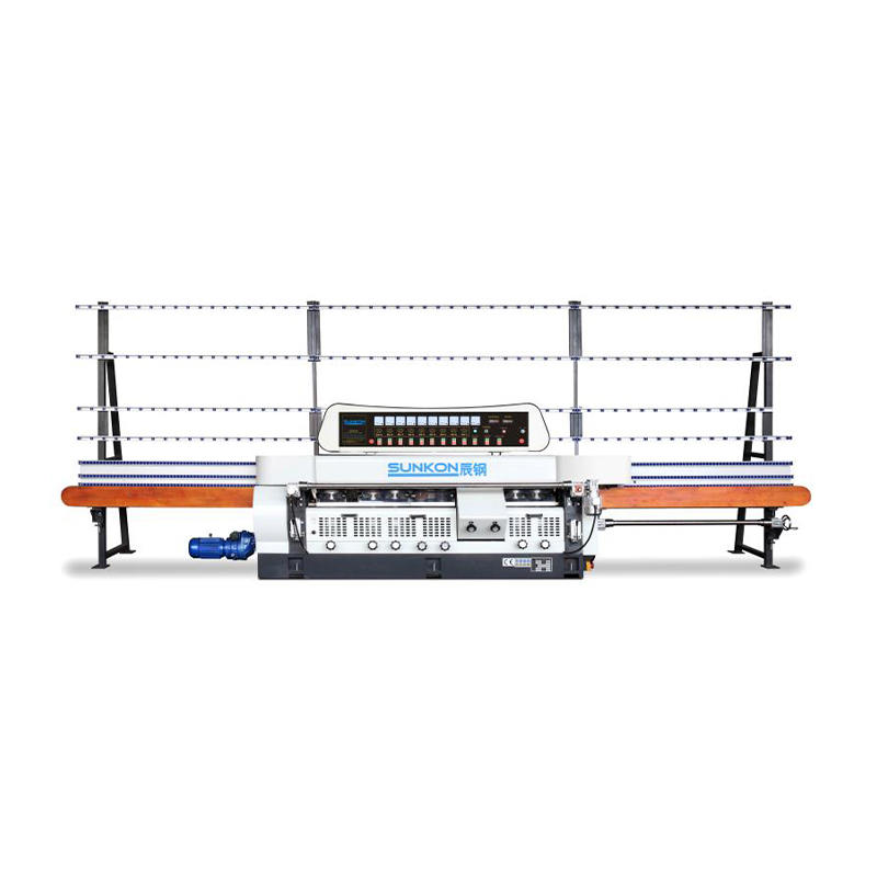 CGZ9325D 9 Motors Vertical Glass Straight Line Edging Machine with Digital Display